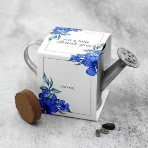 Groen Gietertje zakelijk bedankje - Blue Flowers