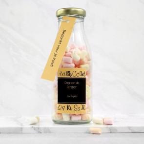 Melkfles met Snoep Zakelijk Bedankje - Alfabet Thema