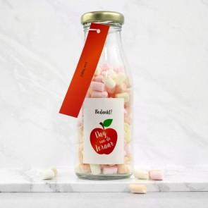 Melkfles met Snoep Zakelijk Bedankje - Appel Thema