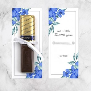 Merci chocolaatjes zakelijk bedankje - Blue Flowers