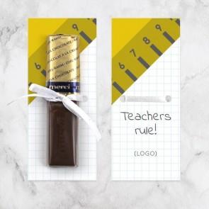 Merci Chocolaatje Zakelijk Bedankje - Liniaal