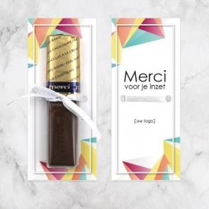 Merci chocolaatjes zakelijk bedankje - Geometric