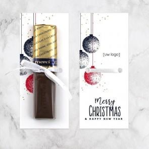 Merci chocolaatje zakelijk bedankje Kerstballen