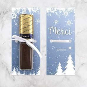 Merci chocolaatje zakelijk bedankje Sneeuw