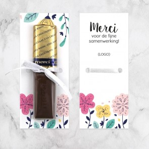 Merci chocolaatje zakelijk bedankje Bloem