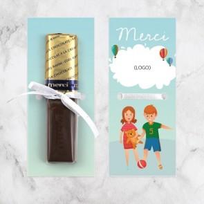 Merci chocolaatje zakelijk bedankje Kinderen