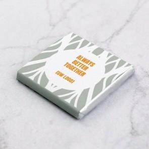Mini Chocolaatjes zakelijk bedankje - Floral Frame