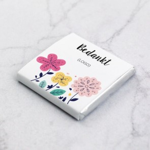 Mini Chocolade relatiegeschenk Bloem thema
