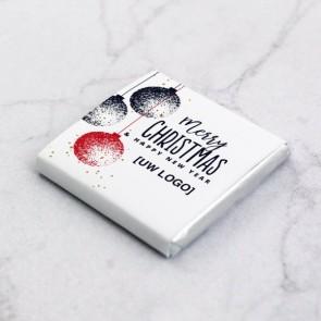 Mini Chocolade Zakelijk Bedankje - Kerstballen Thema