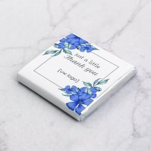 Mini Chocolade zakelijk bedankje - Blue Flowers