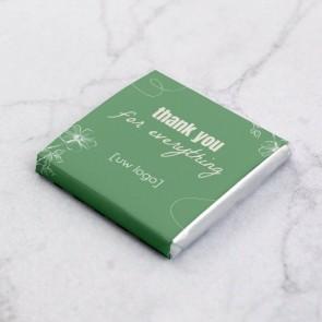 Mini Chocolaatjes zakelijk bedankje - Organic