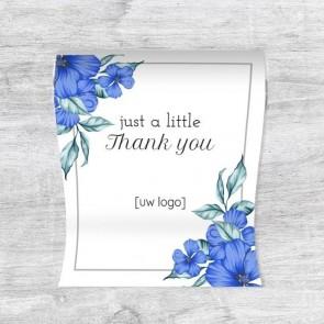 Mini Pepermuntrolletjes zakelijk bedankje - Blue Flowers
