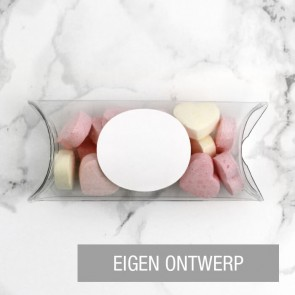 Mini Pillow Box zakelijk bedankje Eigen Ontwerp