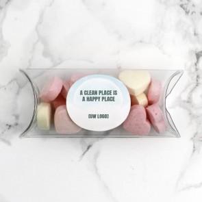 Mini Pillow Box zakelijk bedankje - Transparent