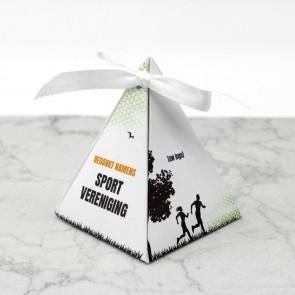 Piramidedoosje zakelijk bedankje - Athletiq