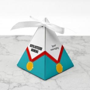 Piramidedoosje zakelijk bedankje - medal