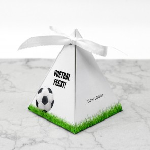 Piramidedoosje zakelijk bedankje - Voetbal