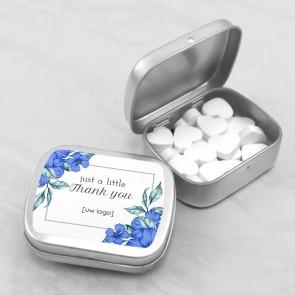 Sweet Tin zakelijk bedankje - Blue Flowers