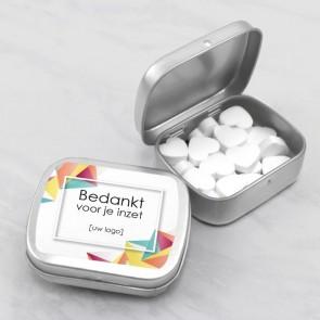 Sweet Tin zakelijk bedankje - Geometric