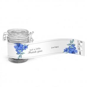 Weckpotje Groen - Blue Flowers