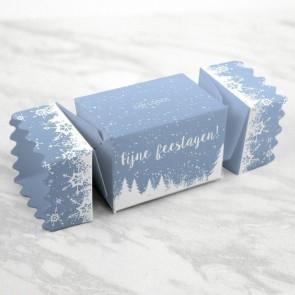 zakelijk bedankje cadeaudoosje met snoep Sneeuw