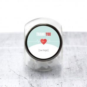 Candy Jar zakelijk bedankje - Heartbeat