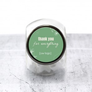 Candy Jar zakelijk bedankje - Organic