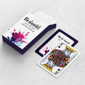 gepersonaliseerde speelkaarten zakelijk verf kaarten en doosje