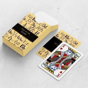 gepersonaliseerde speelkaarten zakelijk alfabet kaarten en doosje