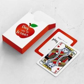gepersonaliseerde speelkaarten zakelijk appel kaarten en doosje