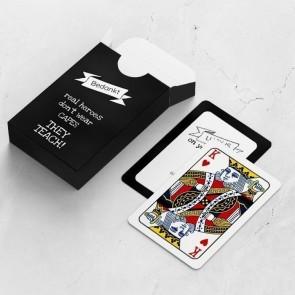 gepersonaliseerde speelkaarten zakelijk krijt kaarten en doosje