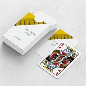 gepersonaliseerde speelkaarten zakelijk liniaal kaarten en doosje