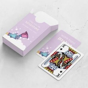 gepersonaliseerde speelkaarten zakelijk sparkling clean kaarten en doosje