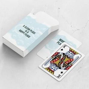 gepersonaliseerde speelkaarten zakelijk transparent kaarten en doosje