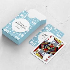 gepersonaliseerde speelkaarten zakelijk health kaarten en doosje