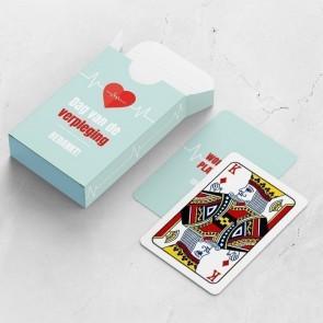 gepersonaliseerde speelkaarten zakelijk heartbeat kaarten en doosje