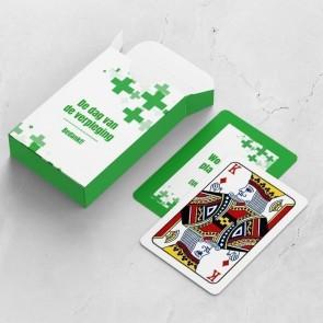 gepersonaliseerde speelkaarten zakelijk care kaarten en doosje