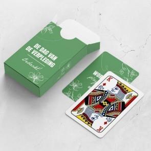 gepersonaliseerde speelkaarten zakelijk organic kaarten en doosje
