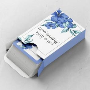 Blue Flowers Gepersonaliseerde Speelkaarten