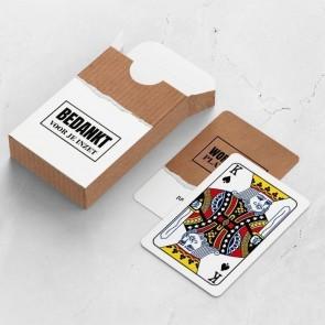 gepersonaliseerde speelkaarten zakelijk paper kaarten en doosje