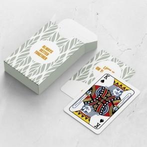 gepersonaliseerde speelkaarten zakelijk floral frame doosje kaarten