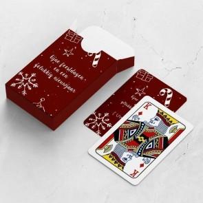 gepersonaliseerde speelkaarten zakelijk doodle kaarten en doosje