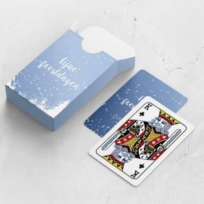 gepersonaliseerde speelkaarten zakelijk sneeuw kaarten en doosje