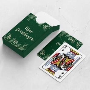 gepersonaliseerde speelkaarten zakelijk tak kaarten en doosje