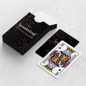 gepersonaliseerde speelkaarten zakelijk sterretjes kaarten en doosje