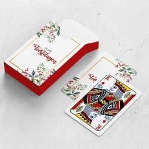 gepersonaliseerde speelkaarten zakelijk holiday branch kaarten en doosje