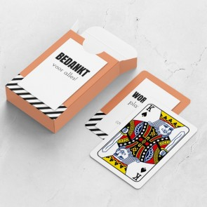 gepersonaliseerde speelkaarten zakelijk oblique doosje en kaarten
