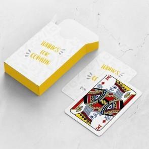 gepersonaliseerde speelkaarten zakelijk scribble kaarten en doosje