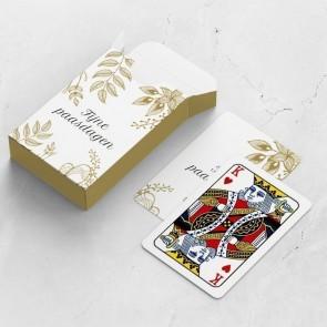 gepersonaliseerde speelkaarten zakelijk golden easter kaarten en doosje