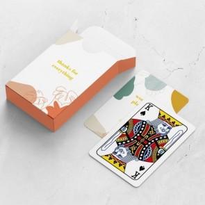 gepersonaliseerde speelkaarten zakelijk floral frame doosje en kaarten